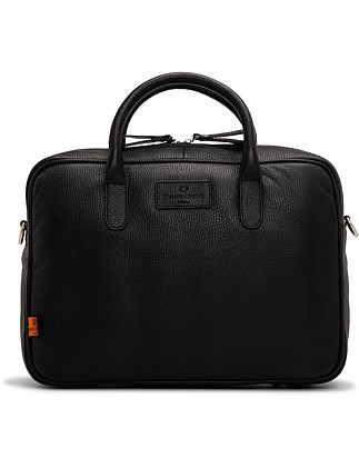 Hove leather laptop bag in black leather