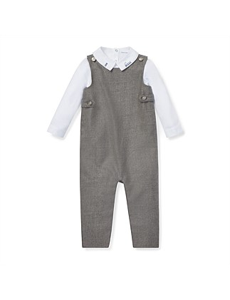 Bodysuit & Wool Overall Set (3-12 Months)
