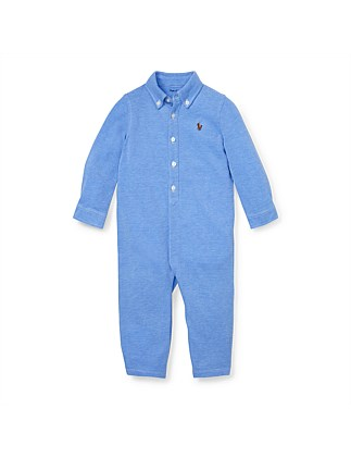 Knit Cotton Oxford Coverall (3-12 Months)