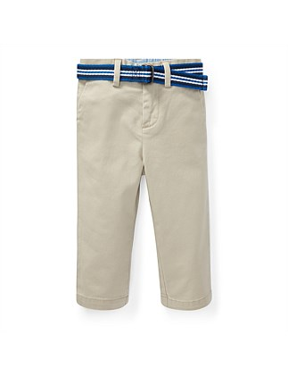 Belted Stretch Cotton Chino (12-24 Months)