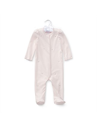 Embroidered Cotton Coverall (3-9 Months)