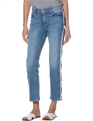 NOELLA STRAIGHT JEAN WITH FRAYED SIDE SEAM
