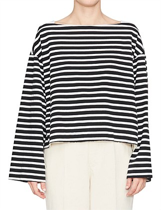 a5c49bbe82908 Gusset Detail Boatneck Top Special Offer