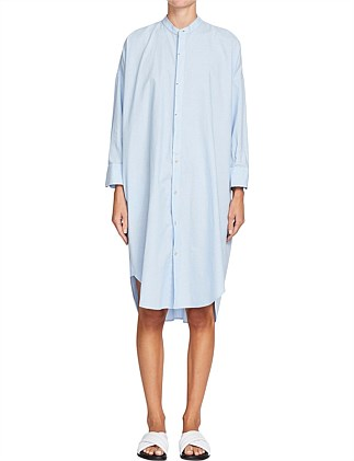 Pique Cotton Shirt Dress