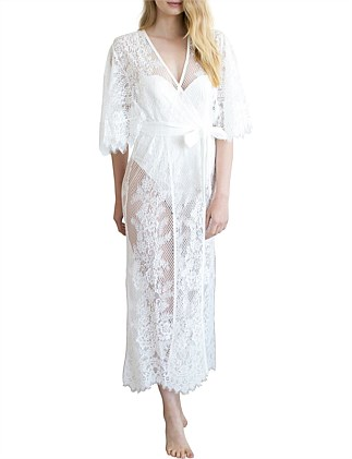 69250280f8 Leah Long Lace Robe Special Offer