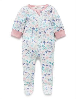 Dashing Cream Wildflower Long Sleeve Kimono Bodysuit Buy Now One-pieces