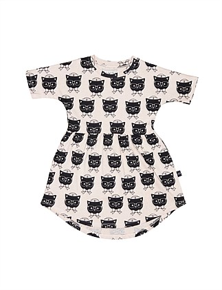 SAILOR CAT SWIRL DRESS