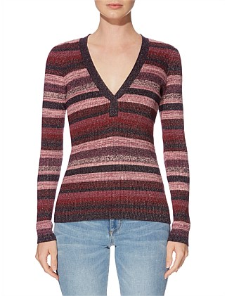 Kelly  Deep V Sweater