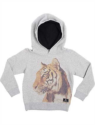 TIGER HOODED SWEATER