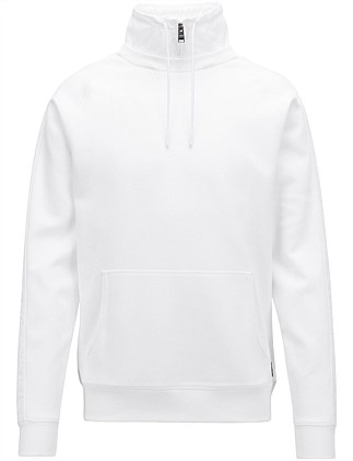 b2578bf29 Water-Repellent Sweatshirt With Detachable Stand Collar. Hugo Boss