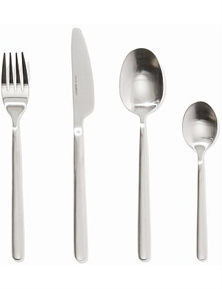 Nolan Brushed 16 Piece Cutlery Set
