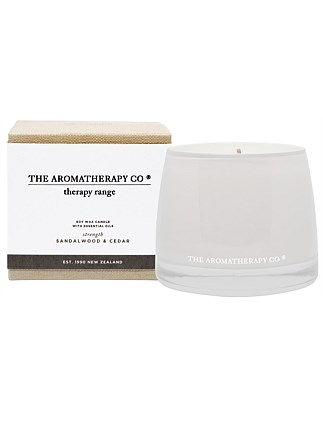 Therapy Candle Strength - Sandalwood & Cedar