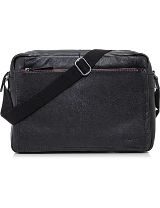 ASTON LARGE LEATHER MESSENGER
