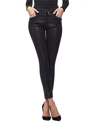 Good Waist Waxed Lace Up Super High Rise Jean