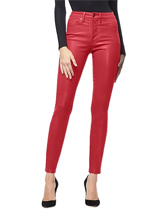 Good Waist Waxed Super High Rise Skinny Jean