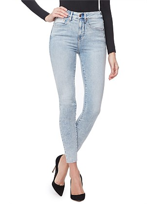 Good Waist' Raw Edge Super High Rise Skinny Jean
