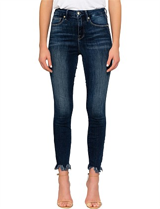 Good Waist' Crop Chewed Hem Super High Rise Skinny Jean