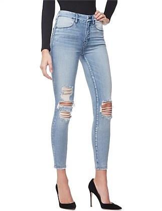 Good Waist' Crop Piecing Super High Rise Skinny Jean