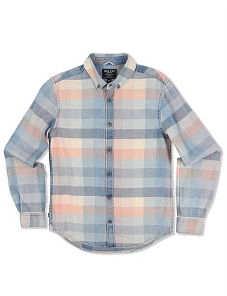 Fade Check L/S Shirt (Boys 8-14 Years)