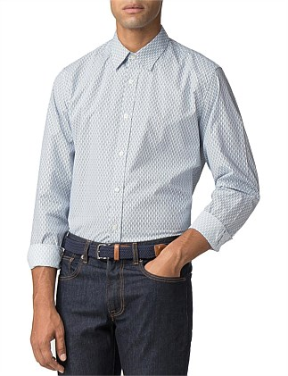8f5c97214a60 Ls Retro Geo Shirt Off White