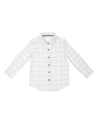 L/S Basketweave Check Shirt (Boys 3-7 Years)