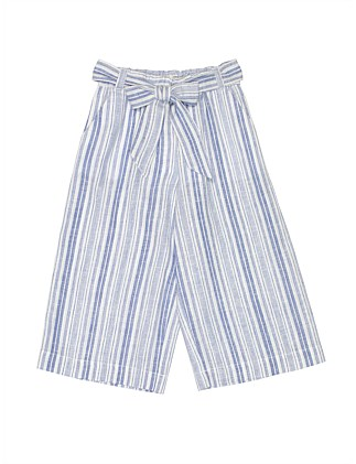 GIRLS STRIPE GAUCHO PANT