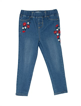 GIRLS KNIT DENIM JEGGING