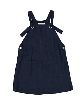 GIRLS PLAIN WEAVE PINAFORE