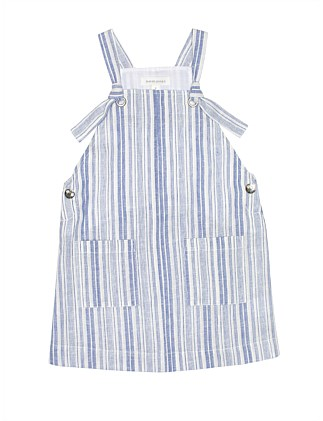 GIRLS STRIPE PINAFORE