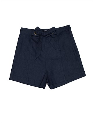 GIRLS PLAIN TIE WAIST SHORT