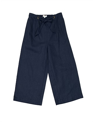 GIRLS TIE WAIST GAUCHO PANTS