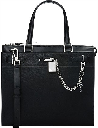 ROXY STRUCTURED SATCHEL SATCHEL BLACK/SILVER