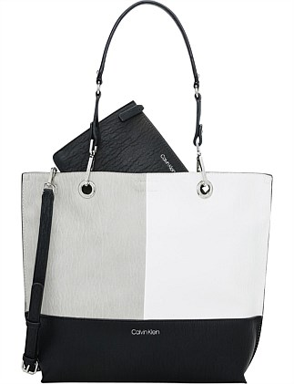 SONOMA NORTH SOUTH REVERSIBLE TOTE BLACK COMBO