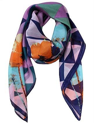 93229 - Destiny - Geometric Flower Silk Square Scarf Special Offer ecdfb41fd