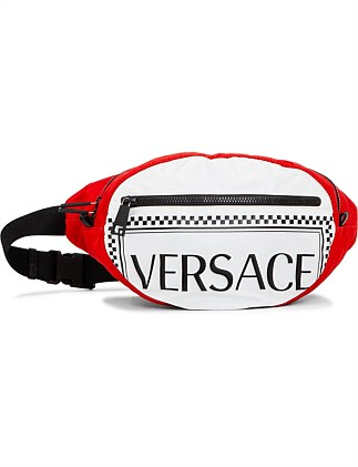 NYLON BELT BAG WITH VERSACE LETTERING
