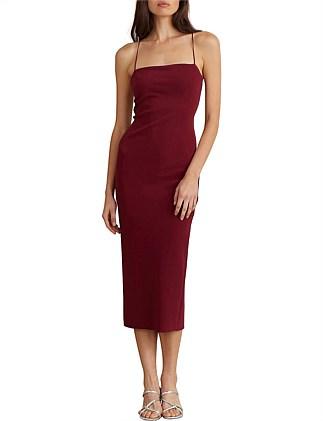 7bfe49b81e77 Lea Lace Up Midi Dress