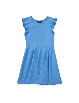 Ruffled Ponte Dress (S-XL)