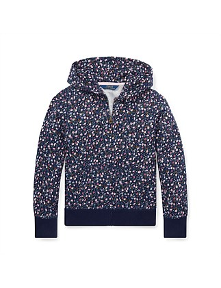 Floral Cotton Terry Hoodie (S-XL)