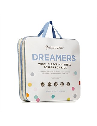 Dreamers Kids Wool Fleece Mattress Topper Double