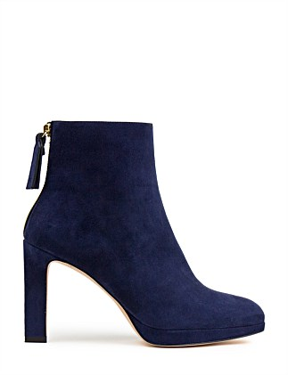6e4746274c7b DELPHINE ANKLE BOOT Special Offer. BLACK  Nice Blue Suede. Stuart Weitzman