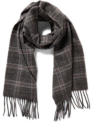 100% CASHMERE PRINCE OF WALES SCARF
