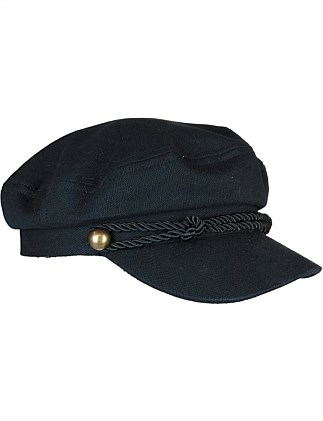 ba7cfc1597b Black wool mix fishermans cap ...