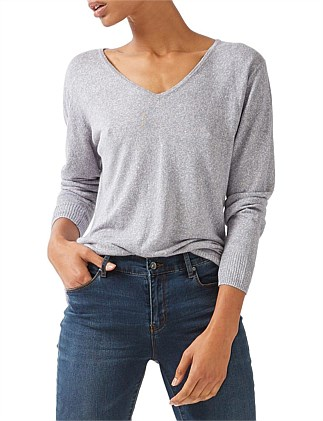 Relaxed V Neck Knit