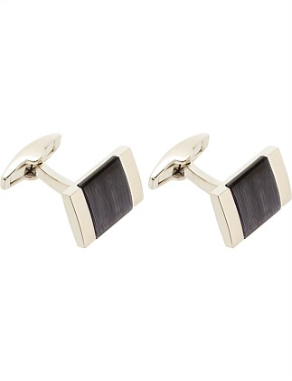 DARK BLUE CAT'S EYE SQUARE CUFFLINK