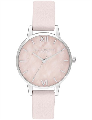 Semi Precious Midi Rose Quartz Watch