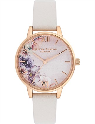 Water Colour Florals Midi Dial Watch