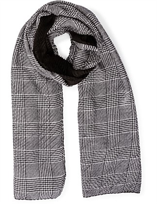 PLEATED CHECK SCARF