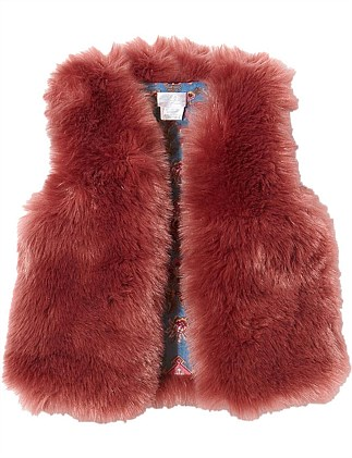 Jeanne Queen Faux Fur Vest (4-10Years)