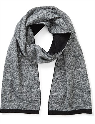 WOOL BLEND TWO TONE SCARF