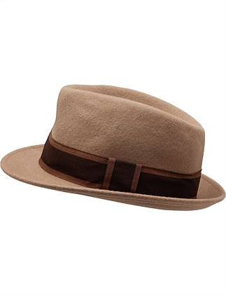 TRILBY HAT W CACAO MARRONE BAND